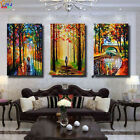 3pc Hand-painted Modern Wall Decor Art Oil Painting on Canvas,Scenery(No Frame)