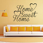 Home Sweet Home Bedroom Wall Quote Sticker Removable Vinyl Decal Art Decoration