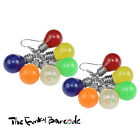 TFB - GARDEN PARTY CLUSTER DANGLE EARRINGS Funky Quirky Retro Cool Summer Fun