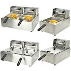 Commercial Electric Countertop Deep Fryer French Fry Bar Restaurant Tank Basket