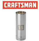 """Craftsman Easy Read Socket 1/2 or 3/8"""" Drive Shallow or Deep Metric mm/SAE Inch"""
