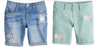 SO Bermuda Girls Youth Stretch  Cuffed Shorts In 4 Colors, Adjustable Waist