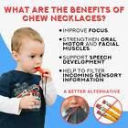 Внешний вид - Chewing Brick Silicone Sensory Chew Necklace Pendant helps biting for Autism