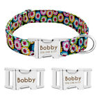 Personalized Dog Collar Heavy Duty Buckle Engraved ID Name Custom Labrador S M L