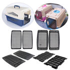 2Pcs Pet Cat Dog Animal Carrier Crate Transporter Cage House Grid Mat Airline