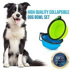 Leak Proof Pet Dog Bowl - Set of 2 - Premium Quality Travel Pet Bowl for Dog Cat