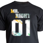 "Nukular T-Shirt Motiv""Mr. Right"" Liebe Love Partner Heirat Freundin Valentinstag"