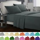 4Pcs Double/Queen/King Bed Sheet 1000TC Flat Fitted Cover Pillowcase Set Size