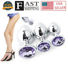 Plug Adult Toys Light Purple Anal Butt Stopper Stainless Steel Metal Jeweled-SML