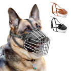 Внешний вид - Adjustable Dog Muzzle Basket Anti Bite Bark Chew Metal Wire for German shepherd