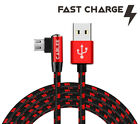 L Shape Braided 10, 6, 4ft Micro USB FAST Charger Data Cable for Tablet Devices