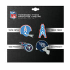 4 pin set franchise timeline collectible throwback NFL PICK YOUR TEAM PSG
