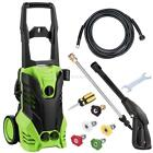 3500 PSI 2.6GPM Power Water Electric Pressure Washer Kit w/ Hose Detergent Tank