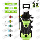 3000 PSI 2.0 GPM Power Water Electric Pressure Washer Kit w/ Hose Detergent Tank