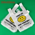100/200/500/1000pcs White Plastic Shopping Bags Carry Out Retail Market Grocery