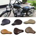 Retro Sylize Leather Spring Solo Driver Seat For Motorcycle Bobber Chopper Refit