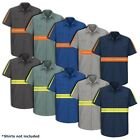Hi Vis Enhanced Visibility Men's Work Shirt 2 Pocket Short Sleeve SEWING SERVICE