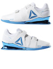 Reebok Legacy Lifter Weightlifting Shoes White Blue CN8397 Men's Multi Size NEW