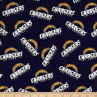 """NFL - Los Angeles Chargers Cotton Fabric 58""""- 60"""" $6.95 USD on eBay"""