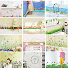 Bedroom Bathroom Removable Decor Colorful Flower Grass Skirting Wall Stickers