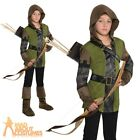 Kids Robin Hood Costume Boys Prince of Thieves Fancy Dress Outfit Book Day Week