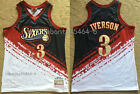 Men Philadelphia 76ers #3 Allen Iverson Basketball jersey Independent embroidery on eBay