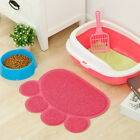 Paw Print Cat Dog Litter Mat Puppy Feeding Bowl Place Mat Bed Mat Clean Pet home