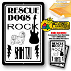 Rescue Dogs Rock Shih Tzu Man Cave Sign Tin Indoor And Outdoor Metal Novelty