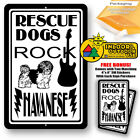 Rescue Dogs Rock Havanese Man Cave Sign Tin Indoor And Outdoor Metal Novelty