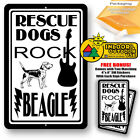 Rescue Dogs Rock Beagle Man Cave Sign Tin Indoor And Outdoor Metal Novelty Gifts