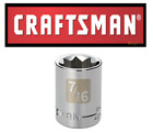 "Craftsman 3/8"" or 1/2"" Drive SAE Star 8 point Socket Any Size STD New"