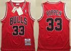 New Men  Chicago Bulls 33# Scottie Pippen Basketball jersey Dense embroidery red on eBay