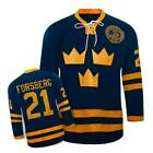 21 PETER FORSBERG Team Sweden Throwback MENS Hockey Jersey Embroidery Stitched