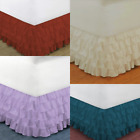 "1PC MODERN SOLID DUST MULTILAYERED BED DRESSING BEDDING SKIRT 18"" DROP GYPSY image"