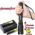 2x Tactical Zoomable 90000Lm 5-Mode T6 LED Flashlight Torch Lamp Battery Charger