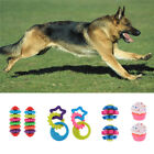 2x Balls Ring Toy for Pet Dogs Doggie Puppy Perfect for Fetch Catch Chew