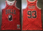 New Men's Chicago Bulls #93 BAPE Basketball jersey embroidery Red on eBay
