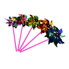5/10/15x Holographic Garden Windmill Single Flower Window Home Decor Kids JKUS