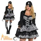 Ladies Pirate Wench Costume Caribbean Buccaneer Womens Adults Fancy Dress Outfit