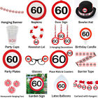 60TH BIRTHDAY TRAFFIC SIGNS THEME - COMPLETE PARTYWARE COLLECTION