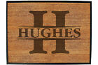 Funny Doormat Novelty Door Mat Birthday Home Office - INITIAL-HUGHES