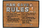 Funny Doormat Novelty Door Mat Birthday Home Office - man cave rules