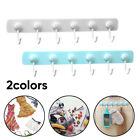 Plastic Self Adhesive Hook Key Rack Wall Mounted Towel Hanger Organizers