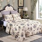 Quilt Set 3 Piece With Pillow Shams Printed All Season Bedspread Coverlets Q/K image