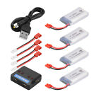 2pcs/4pcs 3.7V 600/720mAh 25C Lipo Battery w/ Charger For Syma X5HC X5HW RC Quad