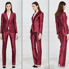 Red Women Ladies Custom Business Office Tuxedos Formal Work Wear New Suits