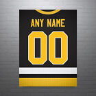 Pittsburgh Penguins Jersey Poster - Personalized Name & Number FREE US SHIPPING $30.0 USD on eBay