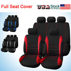 10parts Universal Car Seat Covers Front Rear Head Rests Full Set Auto Seat Cover
