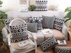 Black Pattern Cushion Cover Interior Durable Household Comfortable Home_MA
