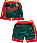 New Men's Seattle Supersonics JUST DON Basketball pants Shorts Retro Mesh Green on eBay